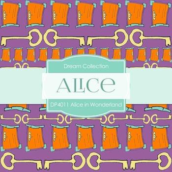 Digital Papers - Alice in Wonderland (DP4011)