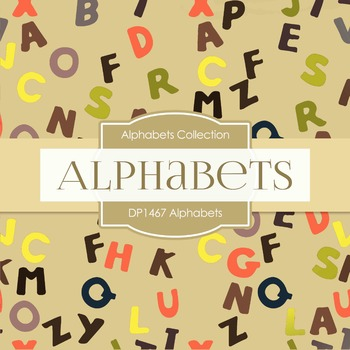 Digital Papers -  Alphabets (DP1467)