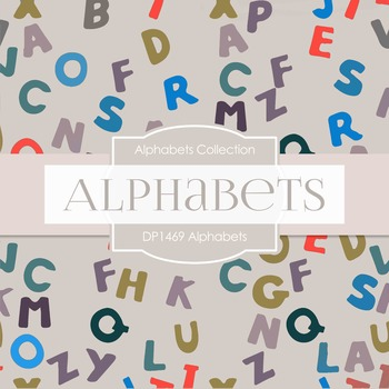 Digital Papers -  Alphabets (DP1469)