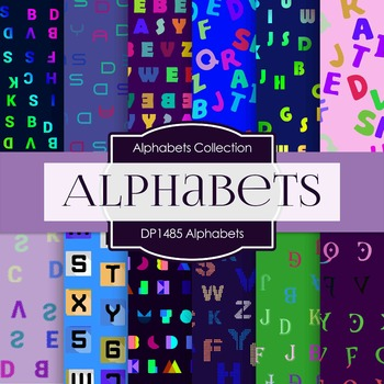 Digital Papers - Alphabets (DP1485)