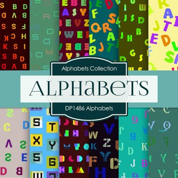 Digital Papers -  Alphabets (DP1486)