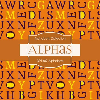 Digital Papers - Alphabets (DP1489)