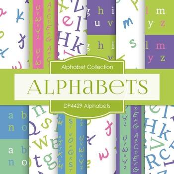 Digital Papers - Alphabets (DP4429)