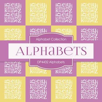 Digital Papers - Alphabets (DP4432)