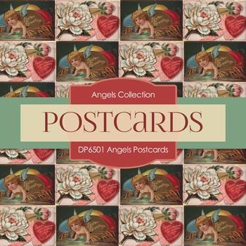 Digital Papers - Angel Postcards (DP6501)