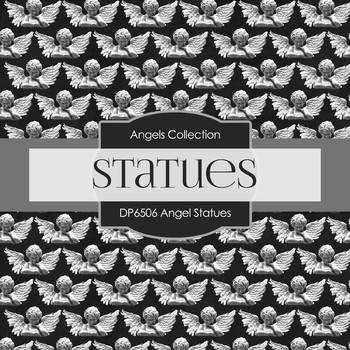Digital Papers - Angel Statues (DP6506)