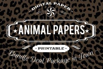 Digital Papers - Animal Patterns Bundle Deal