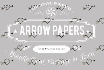 Digital Papers - Arrows Patterns Bundle Deal