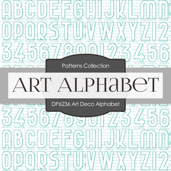 Digital Papers - Art Deco Alphabet (DP6236)