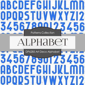 Digital Papers - Art Deco Alphabet (DP6285)