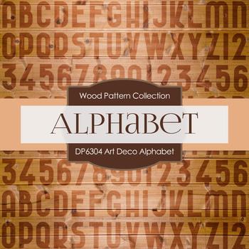 Digital Papers - Art Deco Alphabet (DP6304)