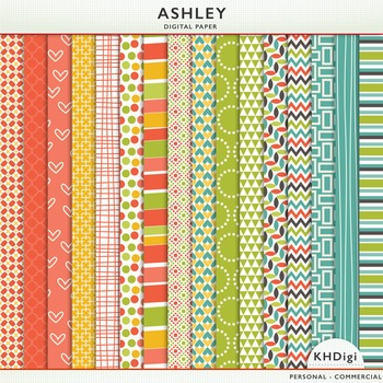 "Digital Papers - ""Ashley"""