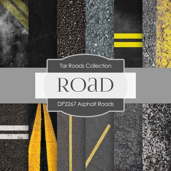 Digital Papers - Asphalt Roads (DP2267)