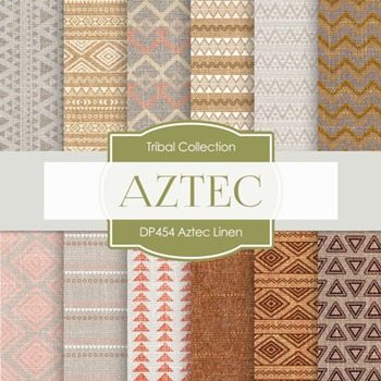 Digital Papers - Aztech Linen (DP454)