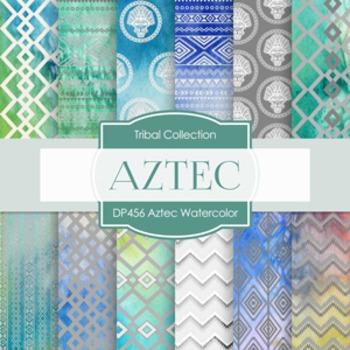 Digital Papers - Aztech Watercolor (DP456)