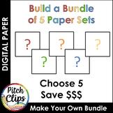 Digital Papers: {BUILD A BUNDLE} - 5 Sets! - Save $$$$
