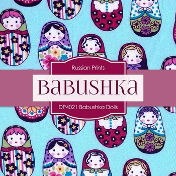 Digital Papers - Babushka Dolls Shabby Chic (DP4021)