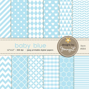 Digital Papers : Baby Blue