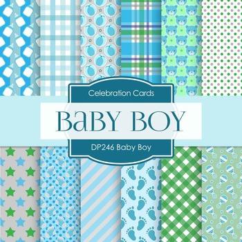Digital Papers - Baby Boy (DP246)