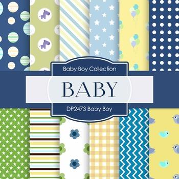 Digital Papers -  Baby Boy (DP2473)