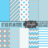 Digital Papers: Baby Boy Patterns Scrapbooking Paper