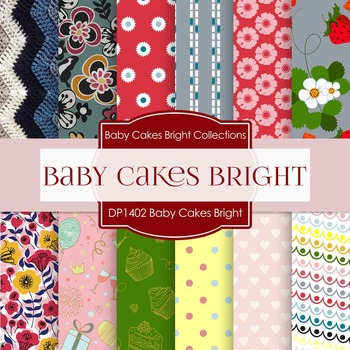 Digital Papers - Baby Cakes Bright (DP1402)