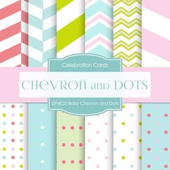 Digital Papers -  Baby Chevron And Dots Pastels (DP4023)