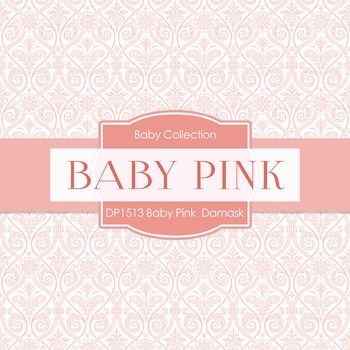 Digital Papers - Baby Pink Damask (DP1513)