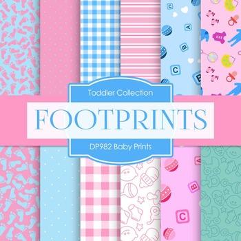 Digital Papers - Baby Prints (DP982)