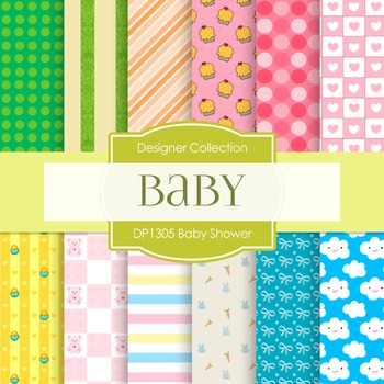 Digital Papers - Baby Shower B (DP1305)