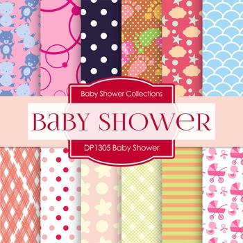 Digital Papers - Baby Shower (DP1305)