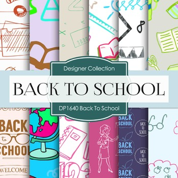 Digital Papers - Back To School (DP1640)