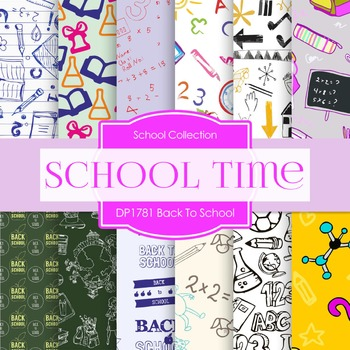 Digital Papers - Back To School (DP1781)