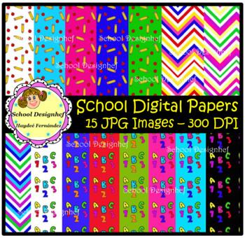 Digital Papers - Back to School (School Designhcf)