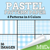 Digital Papers & Backgrounds - Pastel Gingham Patterns
