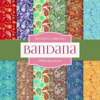 Digital Papers - Bandana (DP826)