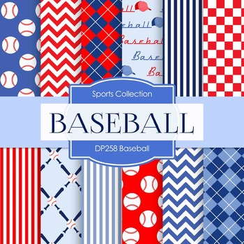 Digital Papers - Baseball Designs (DP258)