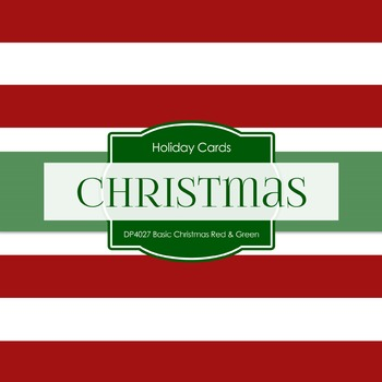 Digital Papers -  Basic Christmas Red Green (DP4027)