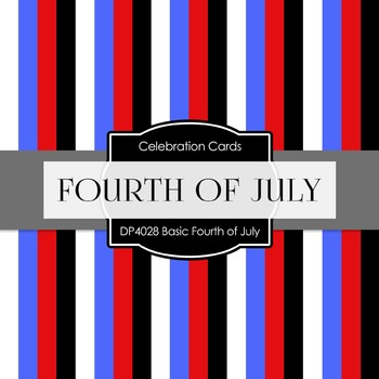 Digital Papers -  Basic Fourth of July (DP4028)