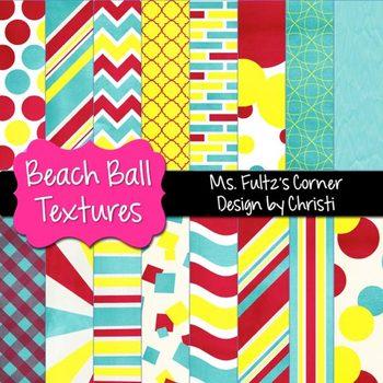 Digital Papers: Beach Ball Textures