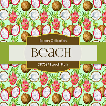 Digital Papers - Beach Fruits (DP7087)