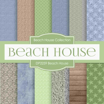 Digital Papers - Beach House (DP2259)