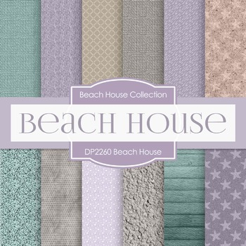 Digital Papers - Beach House (DP2260)
