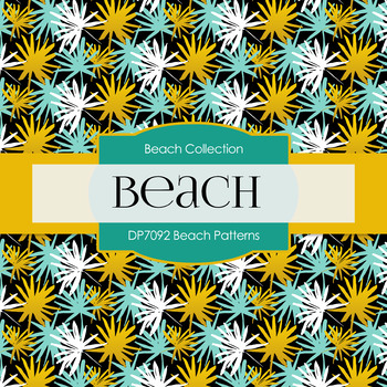 Digital Papers - Beach Patterns (DP7092)