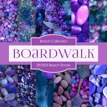 Digital Papers - Beach Stones (DP2503)