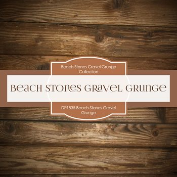 Digital Papers - Beach Stones Gravel Grunge (DP1535)