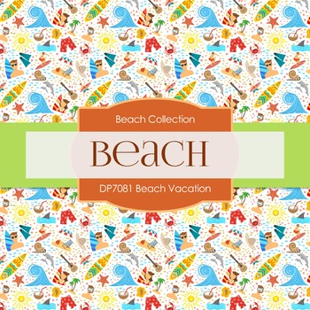 Digital Papers - Beach Vacation (DP7081)