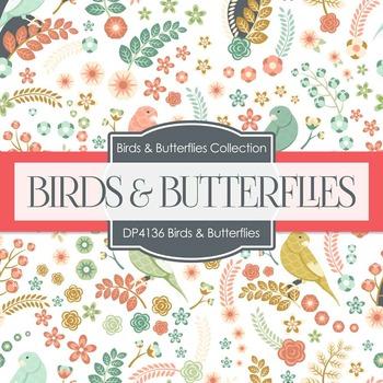 Digital Papers - Birds & Butterflies (DP4136)