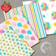 Birthday Digital Paper, Girls Party Papers, AMB-1188