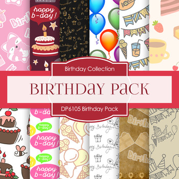Digital Papers - Birthday Pack (DP6105)
